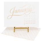 sugar paper letterpress desk calendar