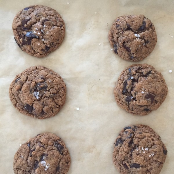 salted flourless chocolate chunk cookies | pamela salzman