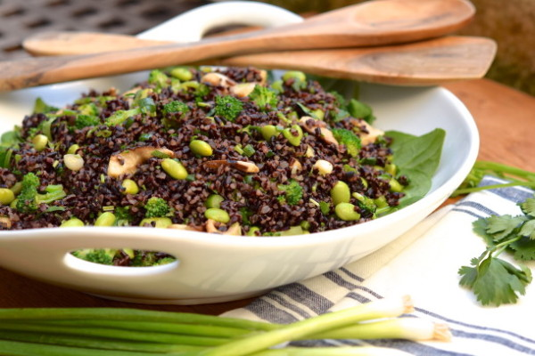 Black Rice Salad with Edamame | Pamela Salzman