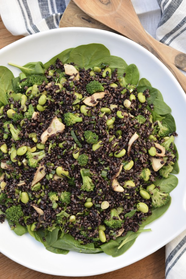 Black Rice Salad with Edamame | PamelaSalzman.com
