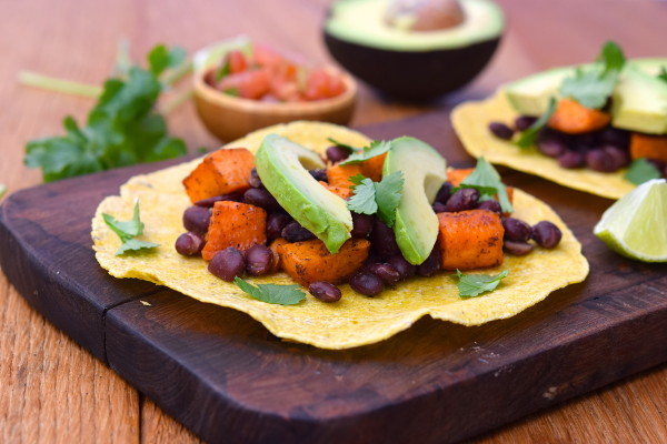 sweet potato and black bean tacos | pamela salzman