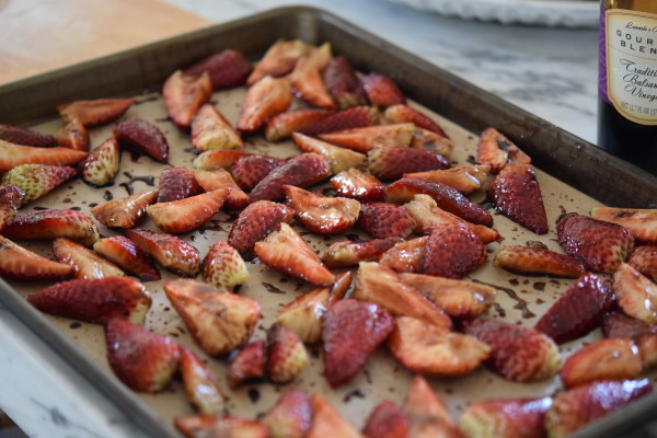 strawberries and balsamic for roasting | pamela salzman