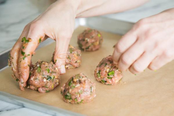 Baked Asian Turkey Meatballs | pamela salzman