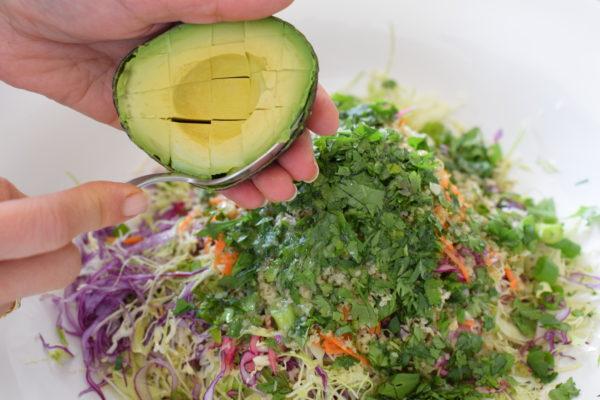 creamy cabbage and avocado slaw | pamela salzman