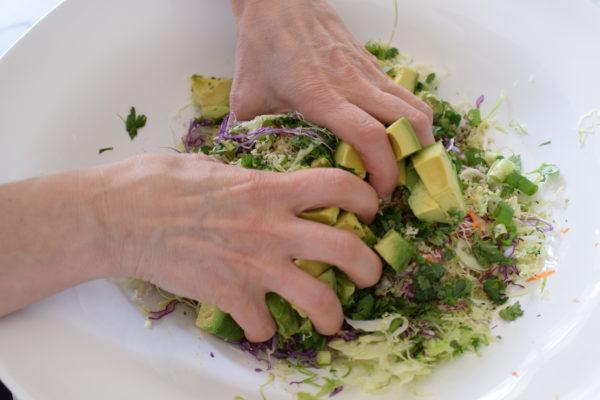 massage the avocado