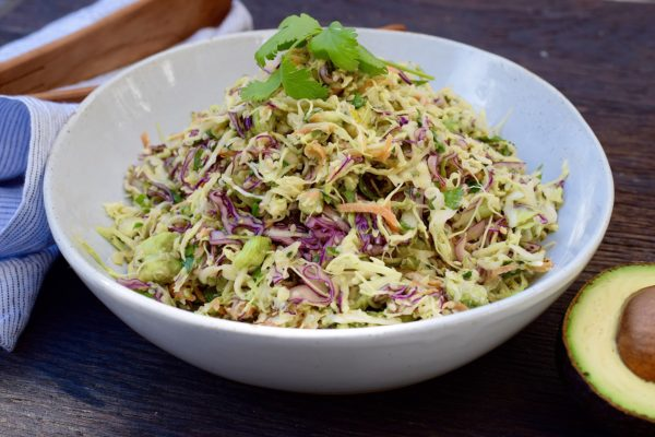 creamy cabbage and avocado slaw | pamela salzman