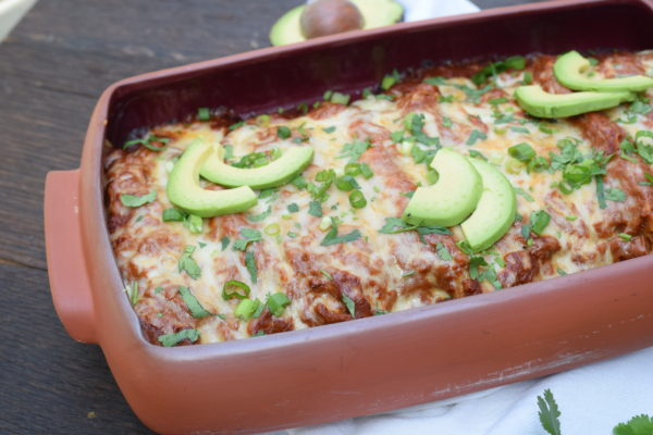 chicken enchiladas with homemade enchilada sauce | pamela salzman