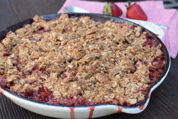 strawberry-rhubarb cornmeal crisp | pamela salzman