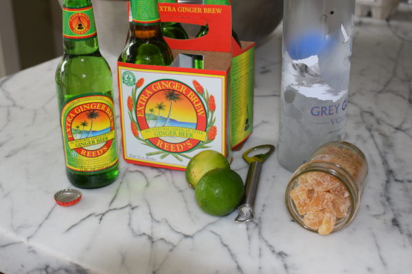 ingredients for moscow mule popsicles | pamela salzman