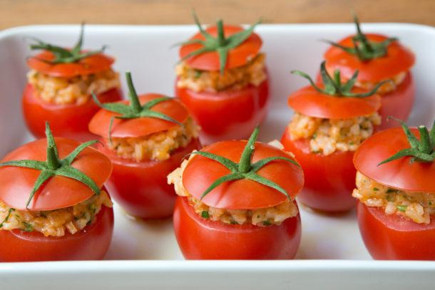 Risotto Stuffed Tomatoes|Pamela Salzman