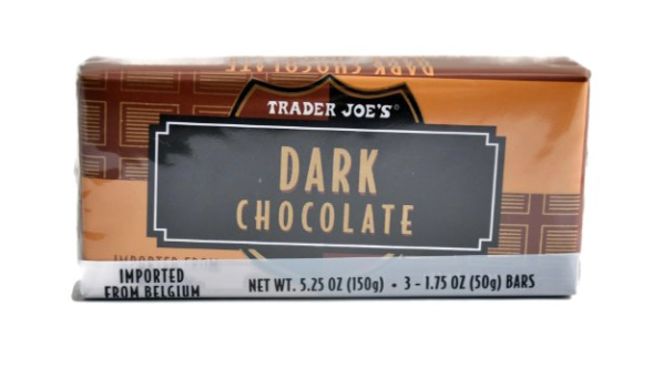 Trader Joe's chocolate bars for s'mores