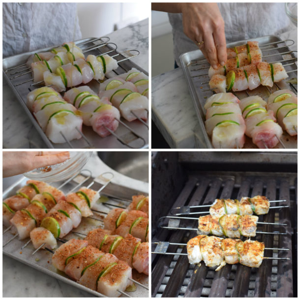 Spiced Halibut Skewers|Pamela Salzman