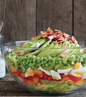 7-layer salad by pamela salesman for Clean Eating Magazine