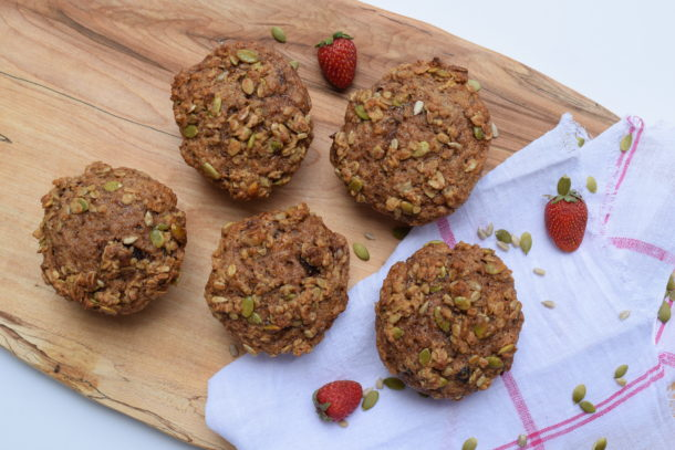 Strawberry Jam Flaxseed Muffins | Pamela Salzman