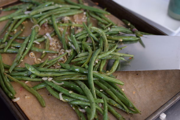 Roasted Green Beans and Shallots with Lemon and Thyme | Pamela Salzman