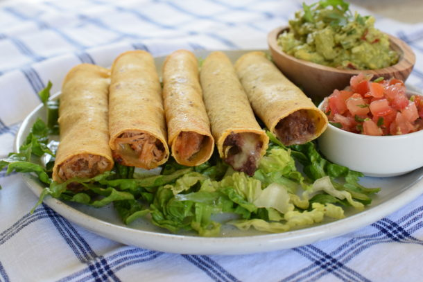Baked Black Bean or Chicken Taquitos | Pamela Salzman