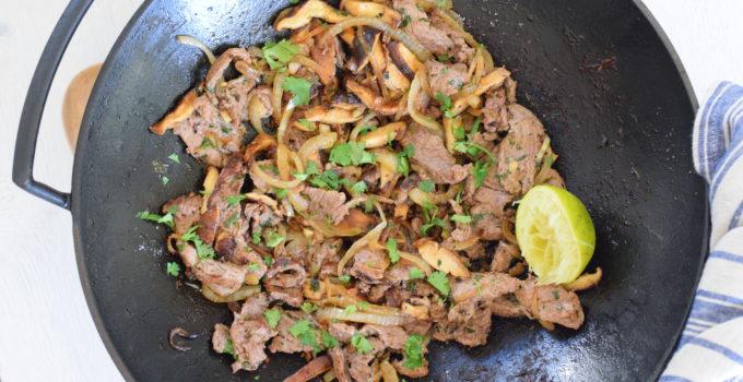 Stir-Fried Ginger Beef with Shiitake Mushrooms Recipe