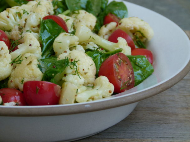 Cauliflower with Tomatoes, Dill and Capers | Pamela Salzman