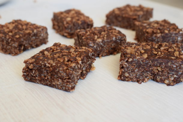 Peanut Butter-Chocolate Brown Rice Crispy Treats | Pamela Salzman