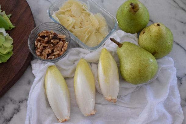 Endive and Pear Salad with Walnuts and Parmesan | Pamela Salzman