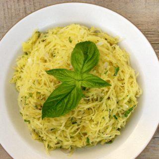 spaghetti squash with herbs and pecorino | pamela salzman