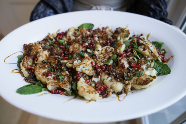 Stovetop Cauliflower with Pomegranate Molasses | Pamela Salzman