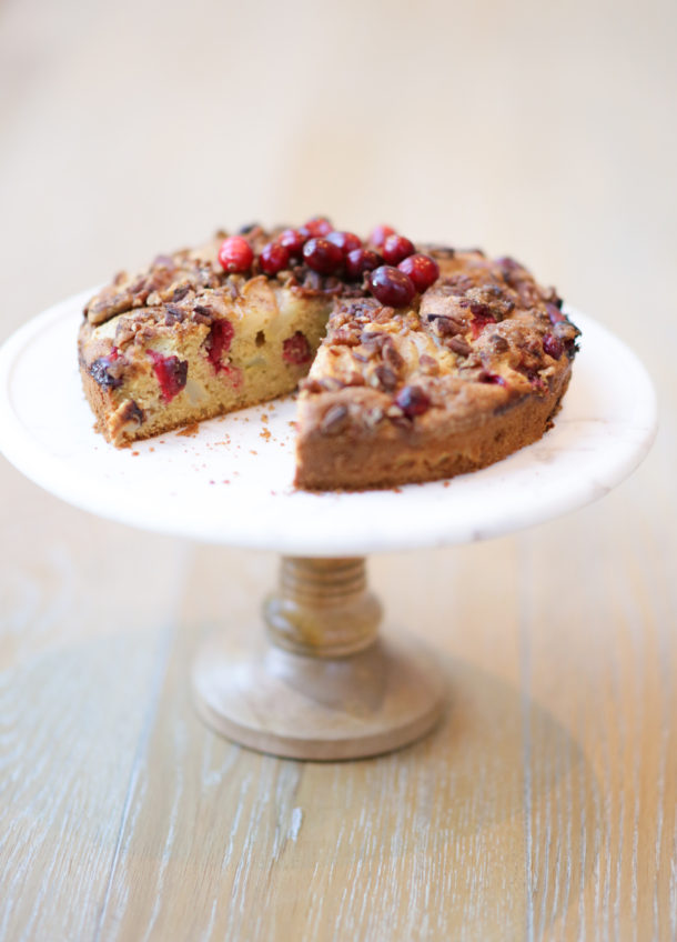 Whole Grain Pear-Cranberry Buckle | Pamela Salzman