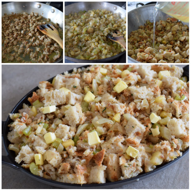 Apple and Fennel Stuffing with Chicken Sausage | Pamela Salzman