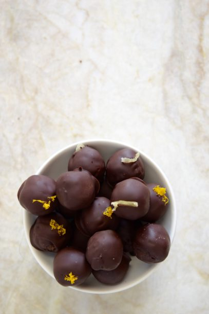 Fig and Ginger Chocolate Truffles | Pamela Salzman