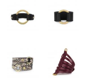 Kendall Conrad leather cuffs