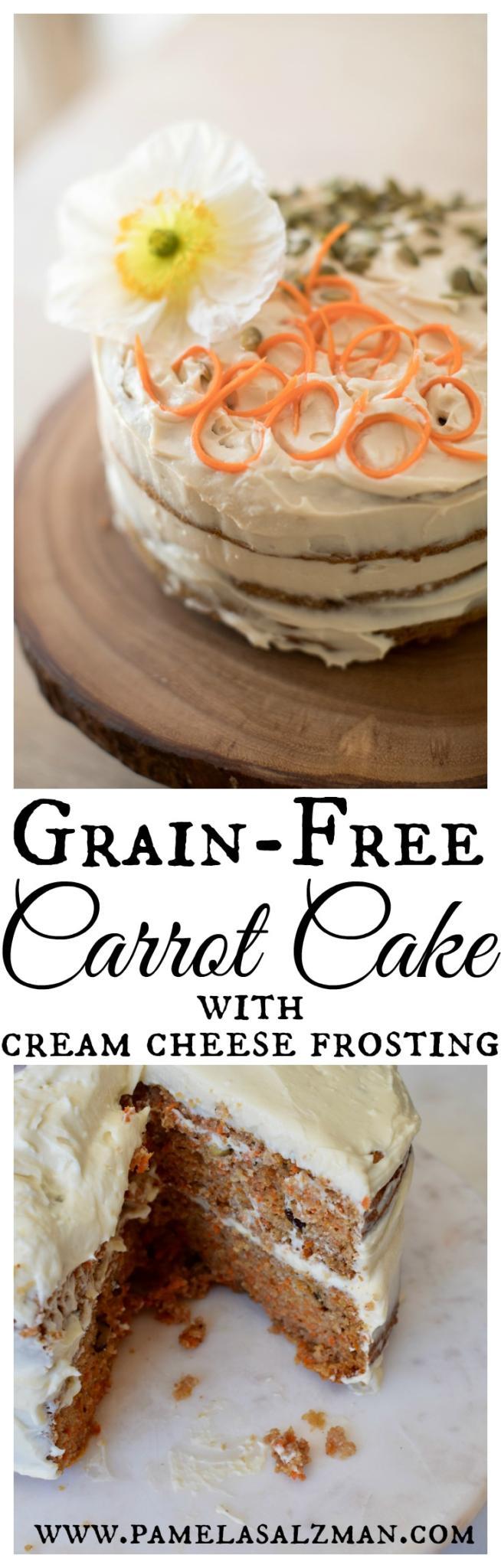 Grain-Free Carrot Cake with Cream Cheese Frosting   Pamela Salzman