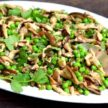 Pea and Mushroom Sauté with Mint Recipe