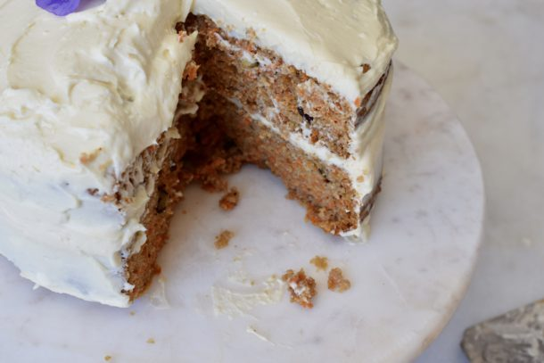 Grain-Free Carrot Cake with Cream Cheese Frosting | Pamela Salzman