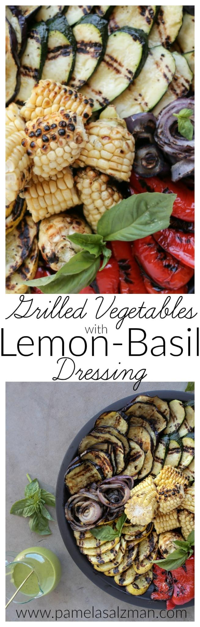 Grilled Vegetables with Lemon-Basil Dressing | Pamela Salzman