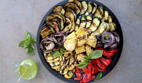 Grilled Vegetables with Lemon-Basil Dressing Recipe