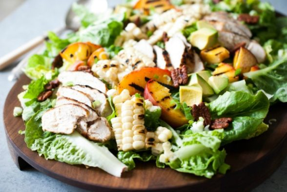 Grilled Summer Salad with Chicken and Spicy Cashew Dressing | Pamela Salzman
