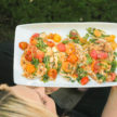Grilled Chicken with Cherry Tomato Vinaigrette Recipe