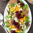 Fall Salad with Fig-Balsamic Vinaigrette and Quinoa Brittle Recipe