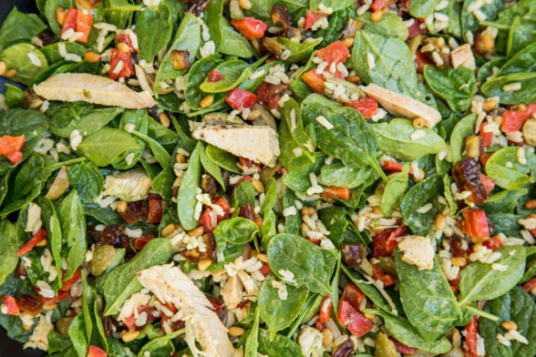 Leftover Turkey and Rice Middle Eastern Salad Recipe | Pamela Salzman