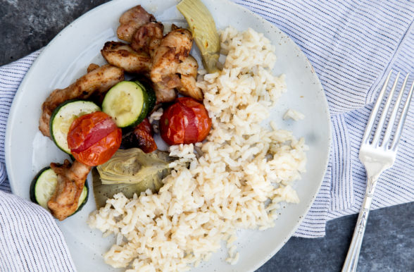 Sheet Pan Chicken with Artichokes, Zucchini and Tomatoes | Pamela Salzman