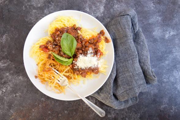 Vegan Bolognese with Spaghetti Squash | Pamela Salzman