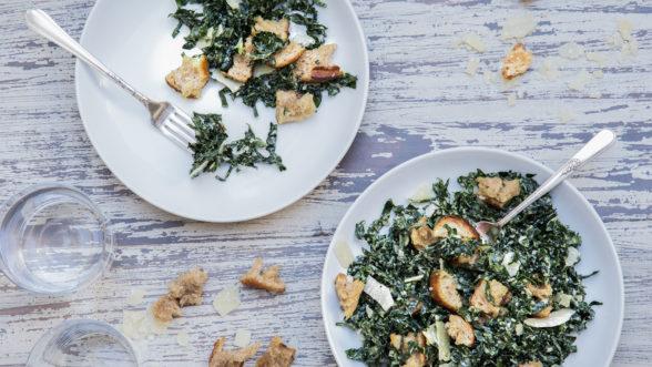 Vegetarian Kale Caesar Salad | Pamela Salzman