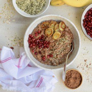 Banana-Chocolate Oatmeal | Pamela Salzman