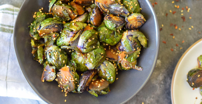Roasted Sesame-Ginger Brussels Sprouts Recipe