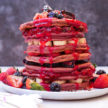 Pitaya Pancake Stack Recipe
