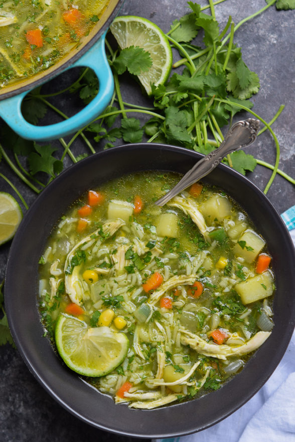Yerba Mate Chicken and Cilantro Soup | Pamela Salzman