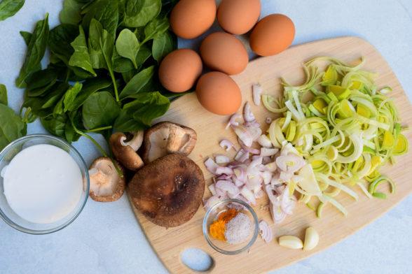 Mushroom and Leek Quiche with Sweet Potato Crust | Pamela Salzman