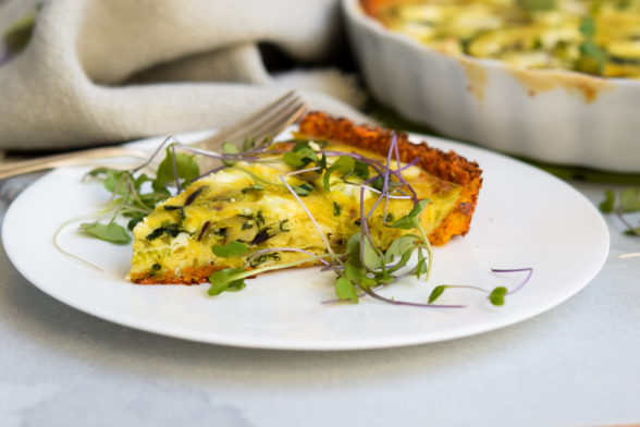 Mushroom and Leek Quiche with Sweet Potato Crust | Pamela Salzman