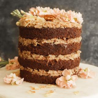 Sweet Laurel German Chocolate Cake with Coconut Pecan Frosting | Pamela Salzman