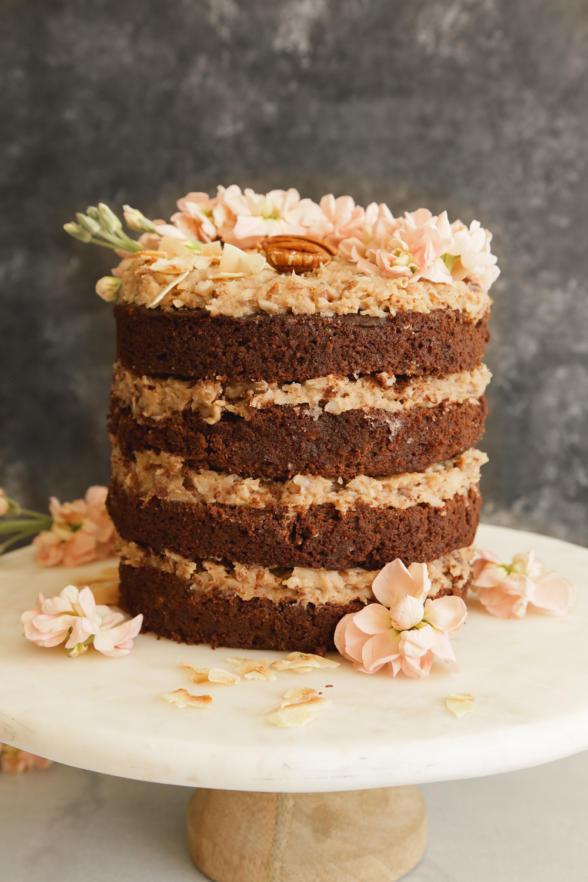 Sweet Laurel German Chocolate Cake with Coconut Pecan Frosting